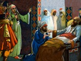 Illustration of the Death of Muhammad